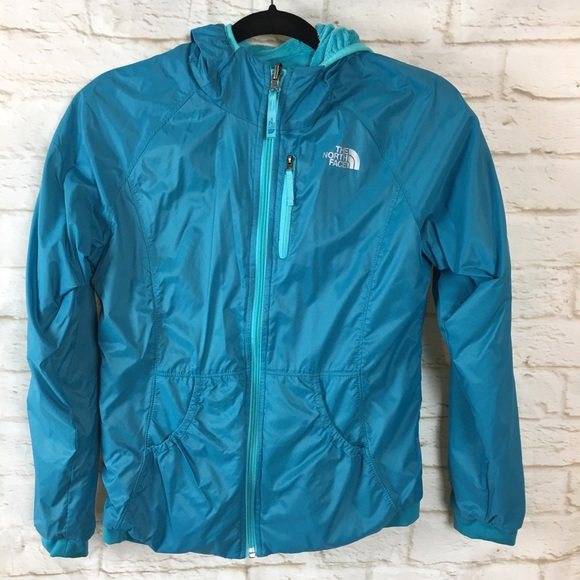 00603e0bf North Face Reversible Fleece Windwall Blue Jacket